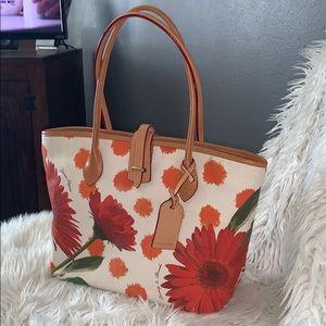 Dooney & bourke floral tote handbag